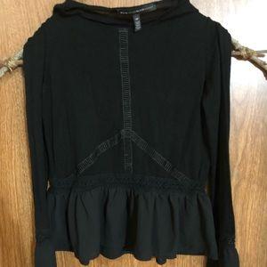Black witchy Strega Mori top blouse gothic emo